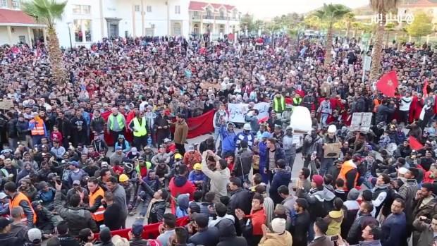 إضراب عام ومسيرات وحلقيات.. برنامج جديد للاحتجاجات في جرادة