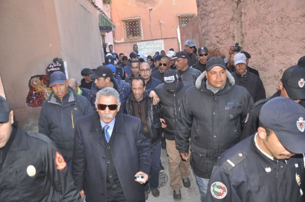 بالصور من مراكش.. إعادة تمثيل جريمة قتل رجل خمسيني
