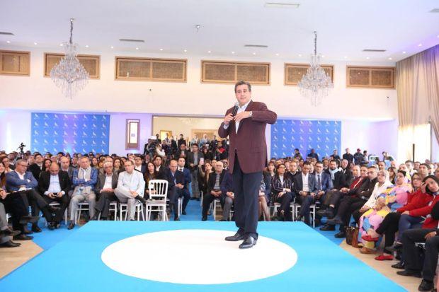 منصف بلخياط عطا نمرتو للناس.. أخنوش يتواصل مع أطره على الطريقة الأمريكية (فيديوهات)