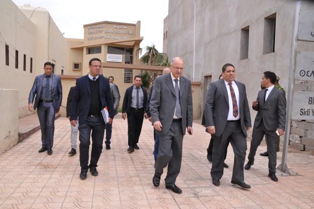 بالصور من مراكش.. الوالي بالنيابة يتفقد مشاريع ملكية
