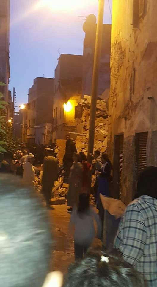 بالصور والفيديو من كازا.. انهيار ثلاثة منازل في المدينة القديمة