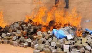 صلبة وخفيفة.. إحراق أكثر من 320 مليون درهم من المخدرات!!