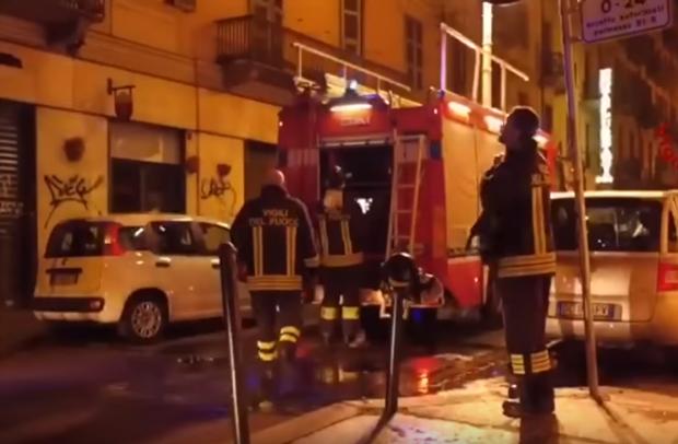 بالصور والفيديو من إيطاليا.. النيران تلتهم مطعم مغربي في طورينو