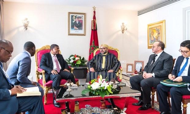 على هامش قمة حوض الكونغو.. الملك يستقبل رئيس جمهورية أنغولا