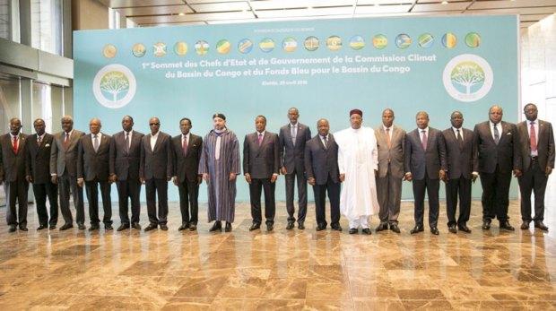صورة للذكرى.. من القمة الأولى لقادة دول ورؤساء حكومات لجنة المناخ والصندوق الأزرق لحوض الكونغو
