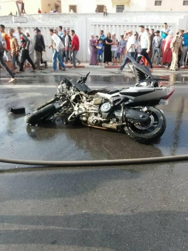 بالصور.. حادثة سير تقتل شخصين في وزان