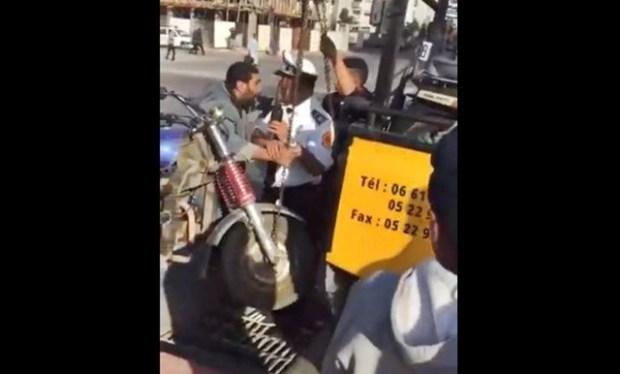 مجلس تأديبي وتحقيق في الموضوع.. الحموشي يوقف الشرطي الذي اعتدى على سائق تريبورتور