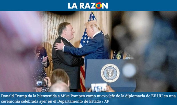 """الشرعي على """"لاراثون"""" الإسبانية: أدمغة الرئيس ترامب الثلاثة!"""