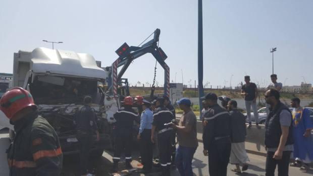 بالصور.. حادثة سير خطيرة في كازا