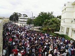 بالصور من جامعة فاس.. توتر وإضراب عن الطعام ومقاطعة للامتحانات