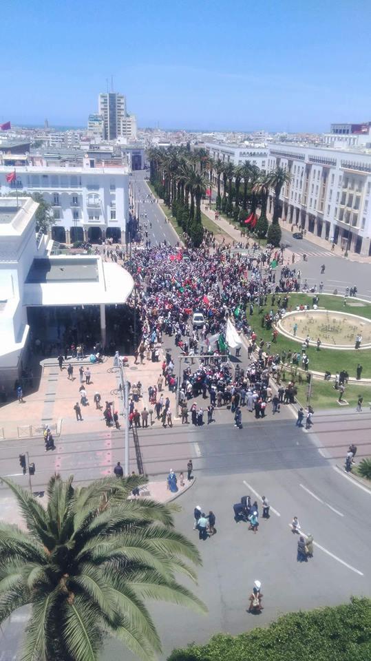 بعد مسيرة الرباط الباهتة.. وقفة تضامنية مع فلسطين