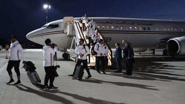 بالصور.. وصول المنتخب المغربي إلى روسيا