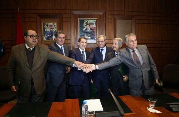 اجتماع استثنائي.. الريف والمقاطعة يجمعان زعماء الأغلبية في بيت العثماني