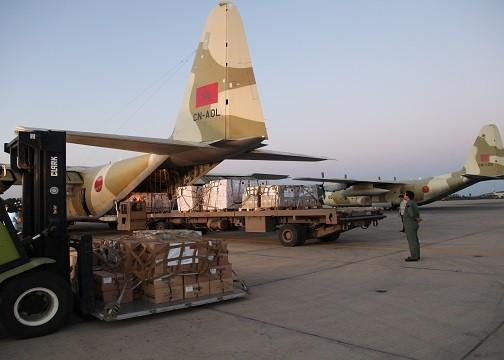 بعد شحنتين في الأردن.. شحنة مساعدات مغربية إلى الشعب الفلسطيني وصلت مصر