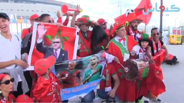 قبل مباراة المغرب وإيران.. حيحة مغربية في روسيا