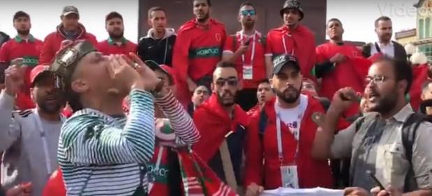 من داخل معلب كالينغراد.. إلقاء القبض على مشجع مغربي