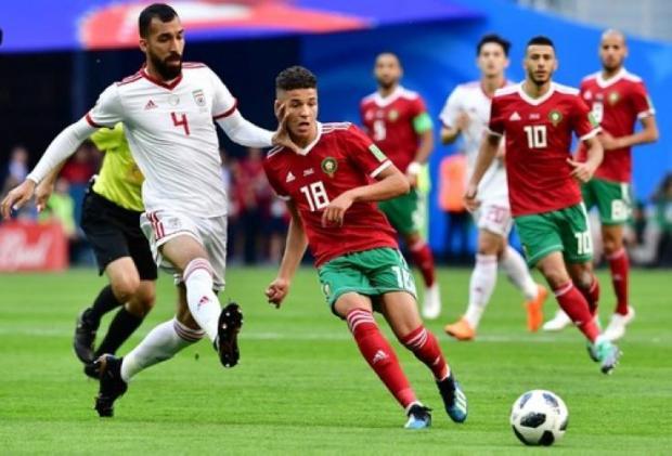 رغم الهزيمة.. أمين حارث أفضل لاعب في مباراة المغرب وإيران