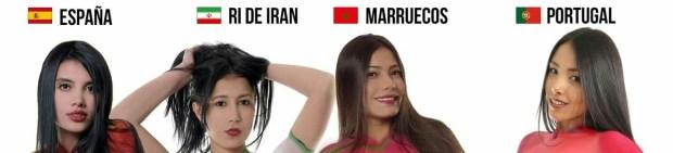 أعلام المنتخبات على أجساد فتيات.. فنان كولومبي يحتفي بالمونديال بطريقته الخاصة (صور)