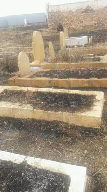 نار فوق القبر.. العافية في مقبرة النواصر ! (صور وفيديو)