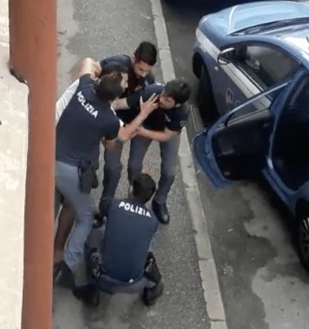 """بالصور من إيطاليا.. مهاجر مغربي """"مكوي بالنار"""" مضارب مع البوليس"""