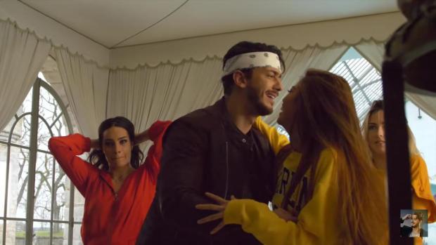 عناق وقبل ورقص.. كواليس من تصوير كليب غزالي لسعد المجرد (صور وفيديوهات)