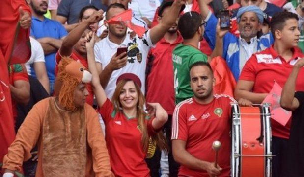 """بعبارة """"ميسي ميسي"""".. تصنيف جيد للجماهير المغربية في المونديال"""
