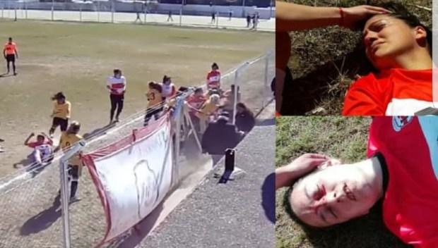 مباراة في كرة القدم تنتهي بمعركة.. الجنس اللطيف ما بقاش لطيف! (صور وفيديو)