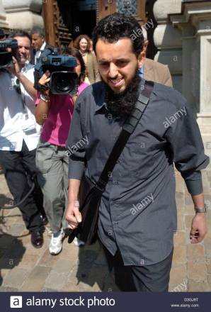 (dpa) - 30-year-old Mounir El Motassadeq from Morocco, accused of aiding the 11 September 2001 plotters, arrives at the Higher Regional Court in Hamburg, Germany, 10 August 2004, to go on trial for the second time in the worldwide first trial concerned with the 9/11 attacks. He is accused of aiding and abetting murder in 3,000 cases and of being a member in a terrorist organisation. The Federal Supreme Court rescind Motassadeq's earlier sentence to 15 year imprisonment last March and refered the case back to the court in Hamburg for the retrial.