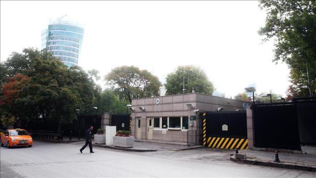 القضية وصلت للقرطاس.. هجوم على السفارة الأمريكية في تركيا