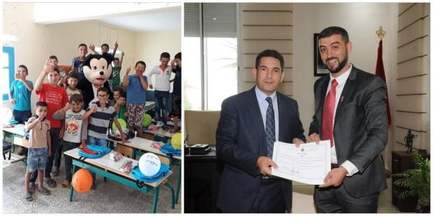 """خصص استقبالا استثنائيا لتلاميذه.. الوزير أمزازي يحتفي بأستاذ """"ميكي ماوس"""" (صور)"""