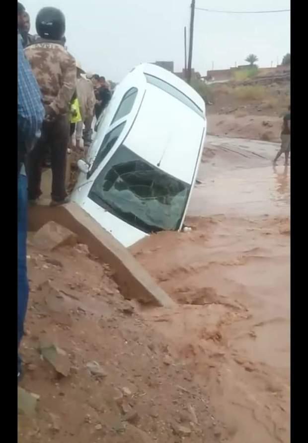 بالصور من زاكورة.. دواوير عاشت ساعات في جحيم الأمطار الطوفانية