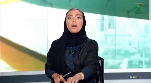 وئام الدخيل.. أول امرأة تقدم الأخبار على القناة السعودية الأولى