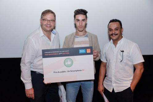 Prix du public - Règis Delière, Directeur Central Grand Public Orange + Abdillah El Oufir + Youssef Ksiyer
