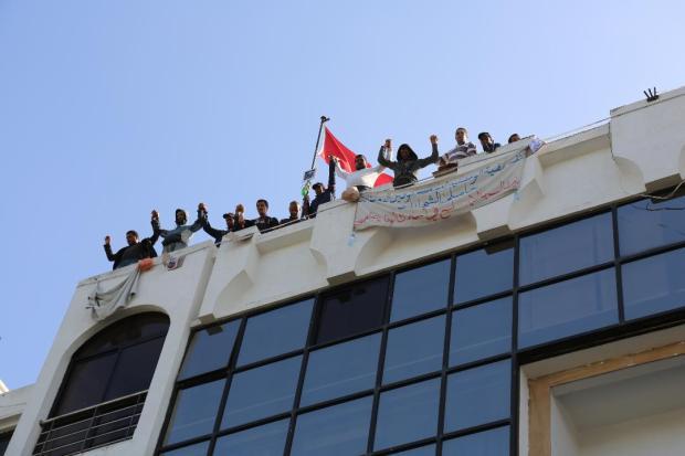 بالصور من الرباط.. العاطلون المكفوفون يواصلون اعتصامهم في وزارة التضامن