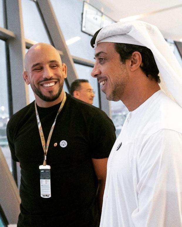 بعد حضوره في الفورمولا وان.. أبو زعيتر يشكر الشيخ منصور بن زايد آل نهيان
