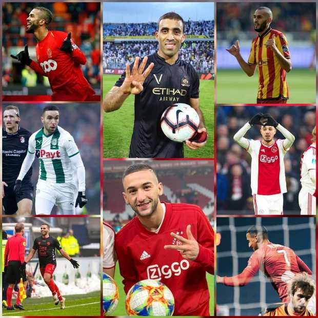 """بالصور والفيديو.. 15 هدفا """"مغربيا"""" في الملاعب العالمية"""