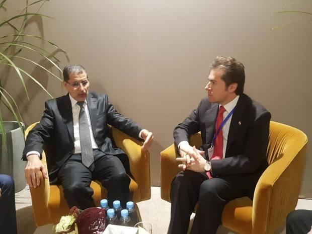 على هامش مؤتمر الهجرة في مراكش.. العثماني يلتقي نظيره الإسباني ويستقبل وزير خارجية  البارغواي