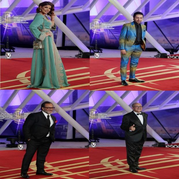 قفطان وبذلات كلاسيكية.. إطلالات متميزة للفنانين المغاربة في افتتاح مهرجان مراكش
