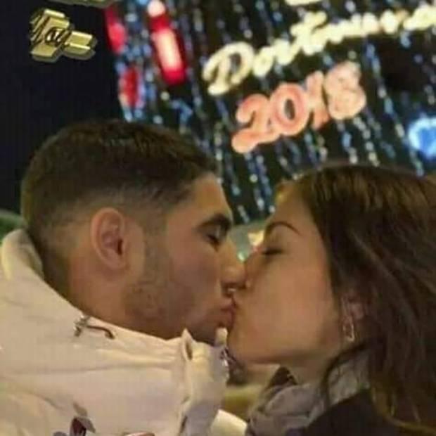 أشرف حكيمي وهبة أبوك.. قبلة حب في باريس