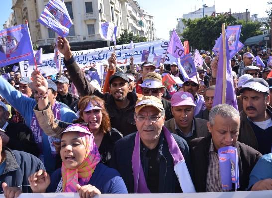 """وصفت عرض الحكومة بـ""""المذل والميهن"""".. الفيدرالية الديمقراطية للشغل تدعو إلى مسيرة وطنية يوم 3 فبراير"""