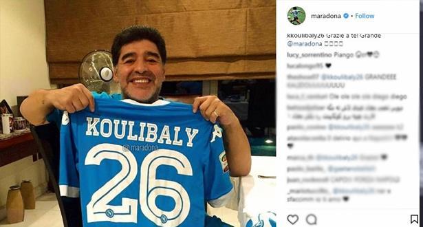 بعد الهتافات العنصرية ضده.. مارادونا يعلن تضامنه مع كوليبالي