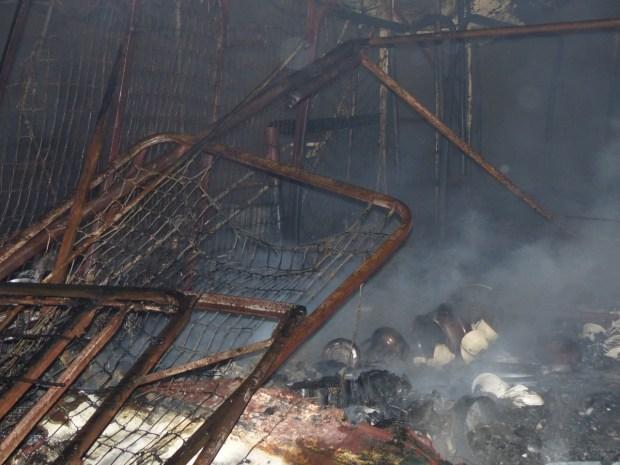 بالصور من آسفي.. حريق كبير يلتهم سوق كاوكي
