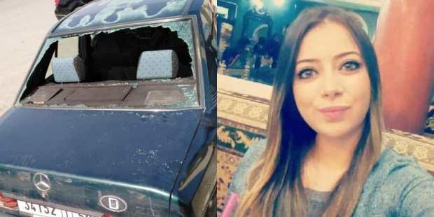 زجاجها مهشم بالكامل.. صور للسيارة التي كانت على متنها جيهان التي قتلت في فاس