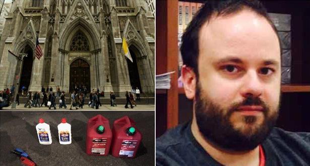 في كاتدرائية في نيويورك.. توقيف شخص يحمل مواد قابلة للاشتعال