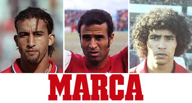 """حجي متفوقا على الظلمي وفرس.. استفتاء """"ماركا"""" حول أفضل لاعب في تاريخ المغرب (صور)"""