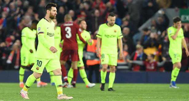 """بعد الإقصاء """"المذل"""" أمام ليفربول.. صحف عالمية تسخر من برشلونة"""