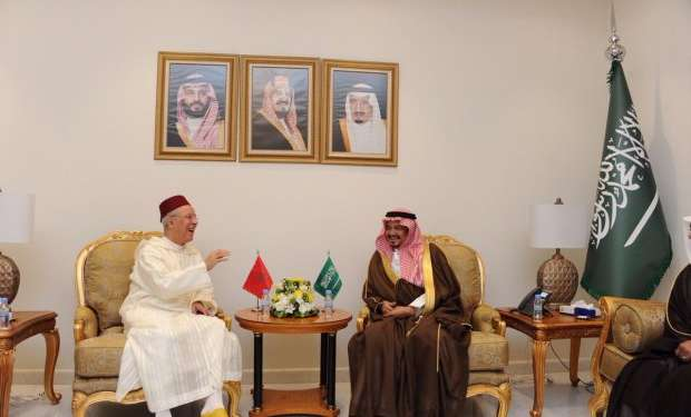 تباحثا خدمة الحجاج المغاربة.. التوفيق يلتقي وزير الحج والعمرة السعودي
