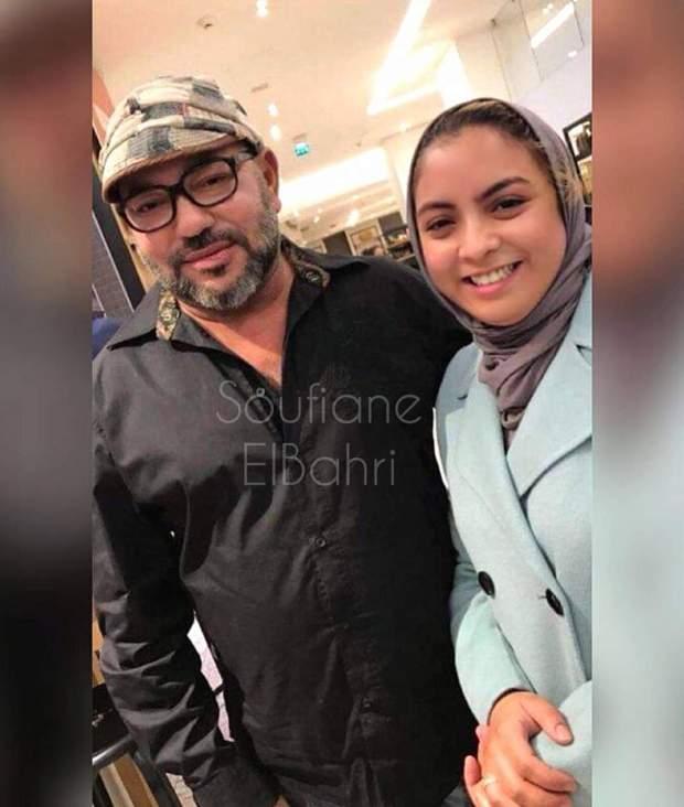 باريس.. أميرة قطرية تلتقط صورة للملك محمد السادس مع فتاة مغربية