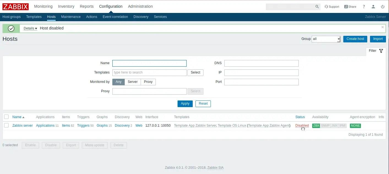 Zabbix Web Log File