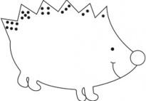 Hedgehog Dice Game How to play for preK kindergarten